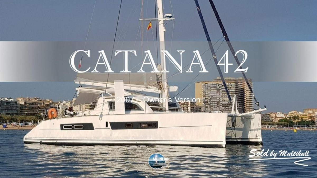 Sold by multihull catana 42 2007 4 cabines