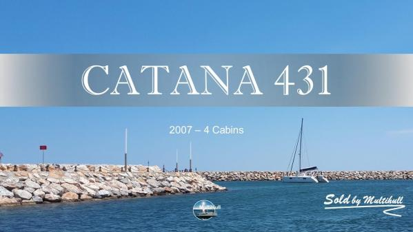 Sold by multihull catana 431 2007 4 cabines