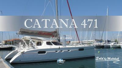 Sold by multihull catana 471 2004 4 cabines