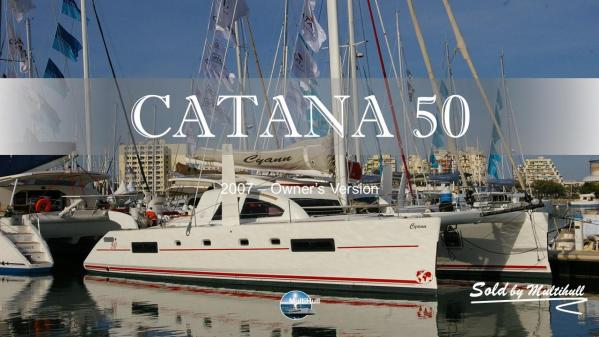Sold by multihull catana 50 2007 owner s version