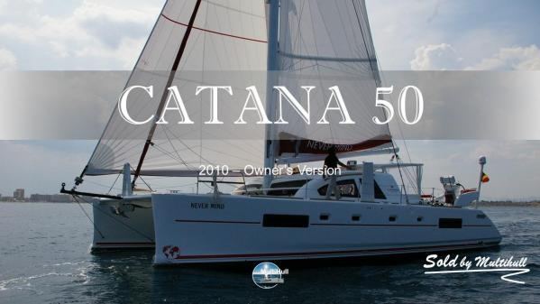 Sold by multihull catana 50 2010 owner s version 1