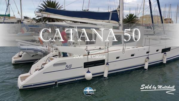 Sold by multihull catana 50 4 cabines 2008