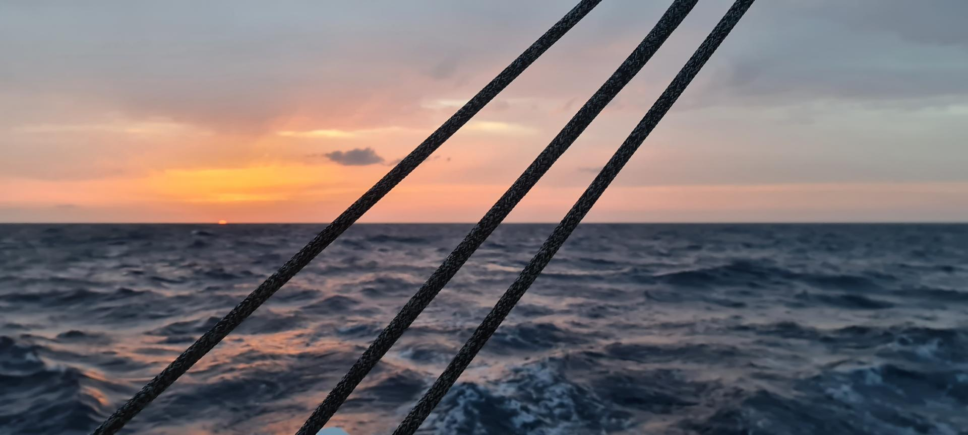 Sunset on mediterranean sea