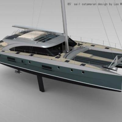 TZ3D 85' Sailing Cat
