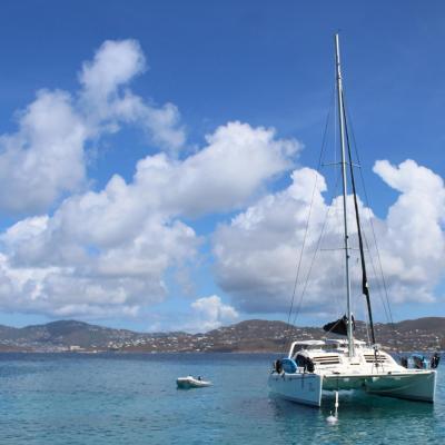 Mouillage aux Virgin Islands des Etats-Unis