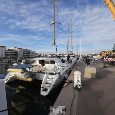 Unstepping mast nautitech 47
